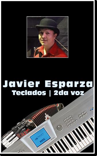 grupo Mandingo Javier Esparza segunda voz vocalista tecladista teclados acordeon juntos con el alma callada