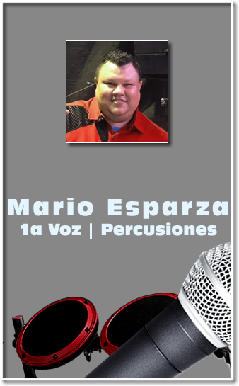 grupo Mandingo Mario Esparza primera voz vocalista percuciones